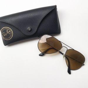 Ray Ban Polarized Brown Classic Aviator Sunglasses